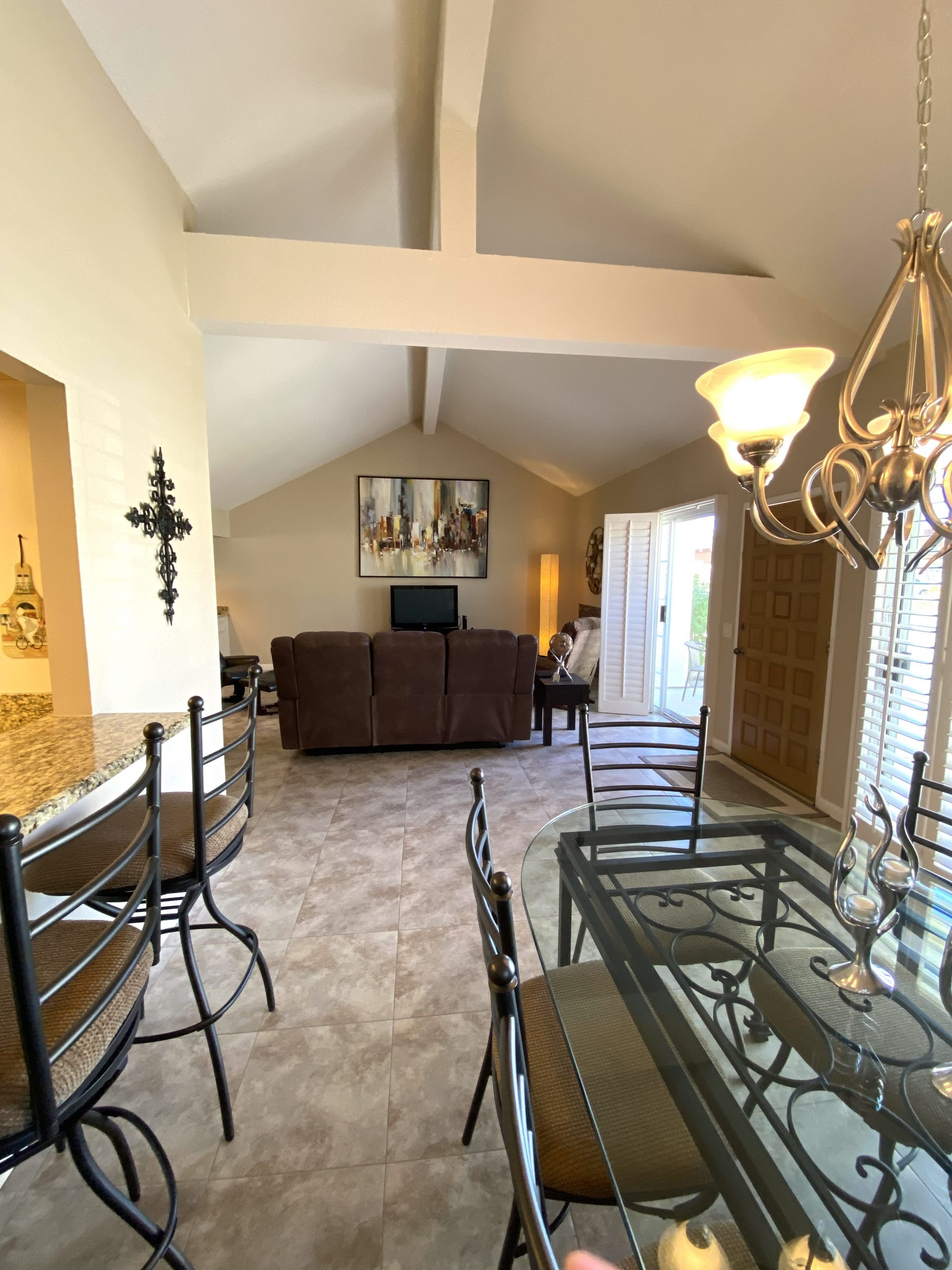 View of Dining to Living room